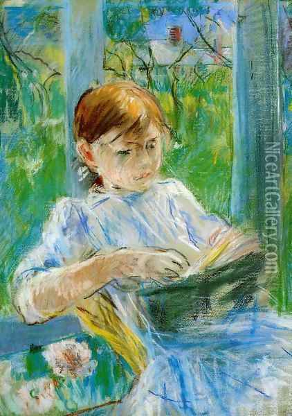 Portrait Of The Artists Daughter Julie Manet At Gorey Oil Painting - Berthe Morisot