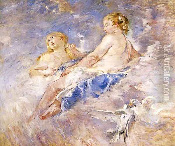 Venus At The Forge Of Vulcan (after Boucher) Oil Painting - Berthe Morisot