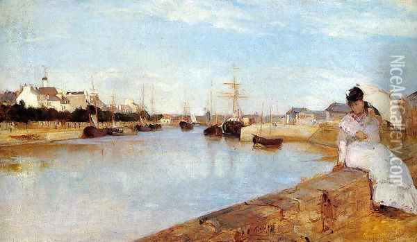 The Harbor at Lorient 1869 Oil Painting - Berthe Morisot