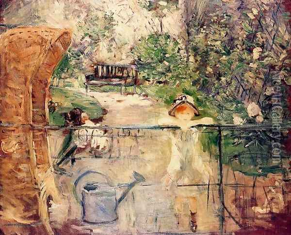 The Basket Chair Oil Painting - Berthe Morisot