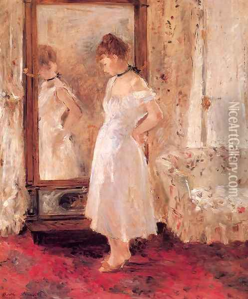 Psyche 1876 Oil Painting - Berthe Morisot