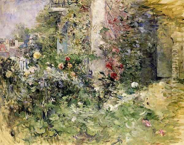 The Garden At Bougival Oil Painting - Berthe Morisot