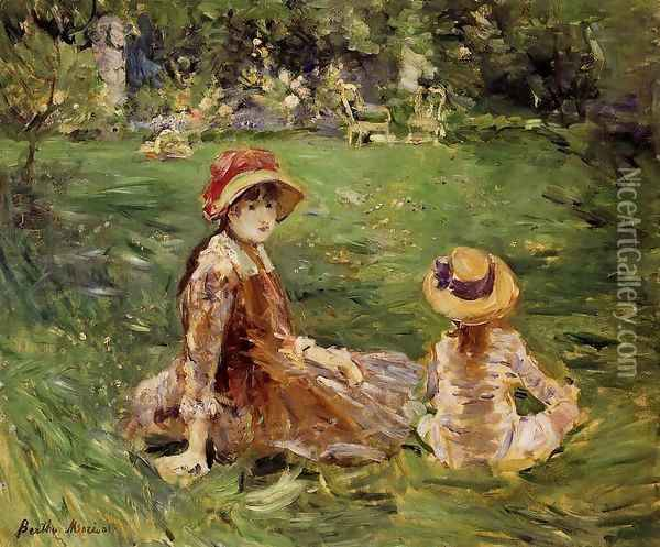 In The Garden At Maurecourt 1884 Oil Painting - Berthe Morisot