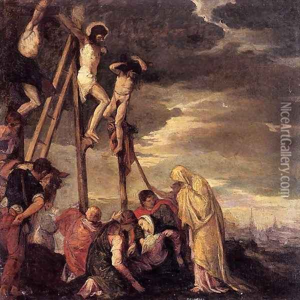 Calvary (after Veronese) Oil Painting - Berthe Morisot