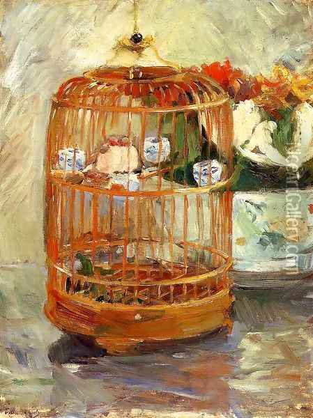 The Cage Oil Painting - Berthe Morisot