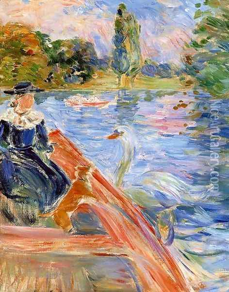 Boating On The Lake Oil Painting - Berthe Morisot