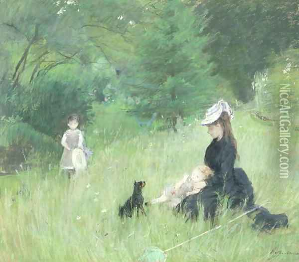 In a Park 1874 Oil Painting - Berthe Morisot