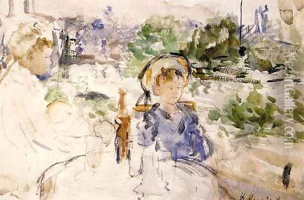 Luncheon In The Countryside Oil Painting - Berthe Morisot
