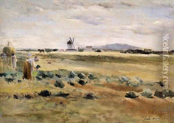 The Little Windmill At Gennevilliers Oil Painting - Berthe Morisot