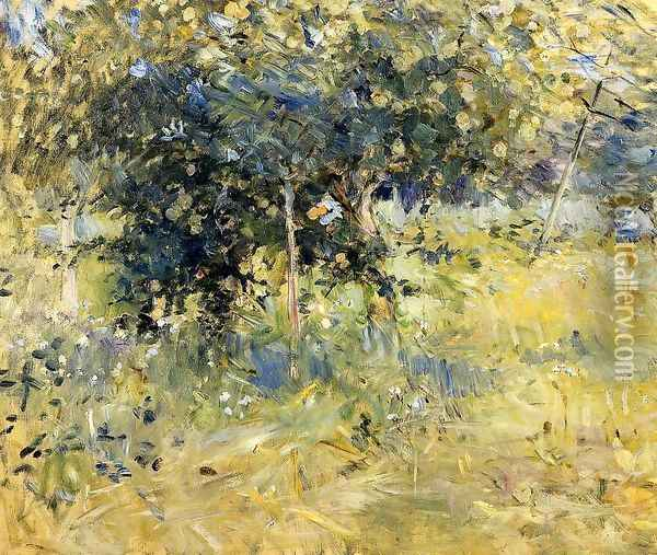 Willows In The Garden At Bougival Oil Painting - Berthe Morisot