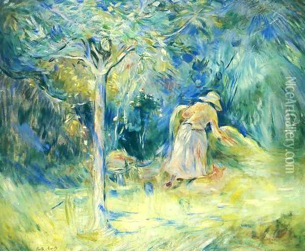 Haying At Mezy Oil Painting - Berthe Morisot