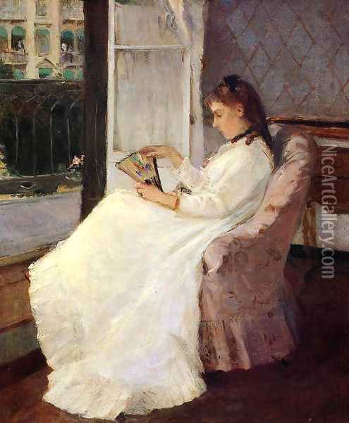 The Artist's Sister at a Window 1869 Oil Painting - Berthe Morisot