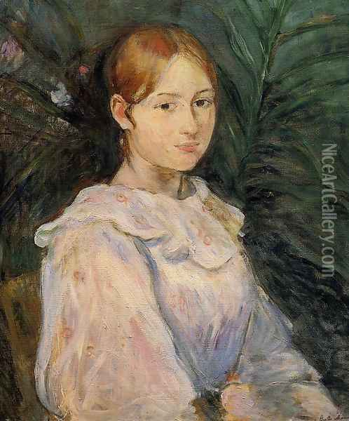 Bust Of Alice Gamby Oil Painting - Berthe Morisot