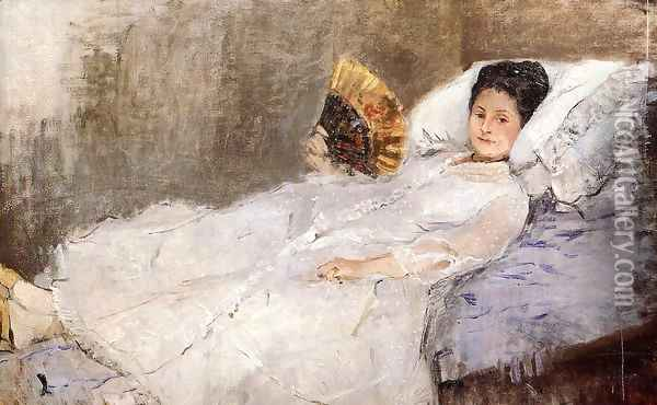 Portrait Of Madame Hubbard Oil Painting - Berthe Morisot