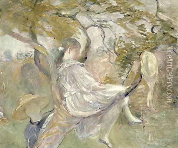 In the Apple Tree 1890 Oil Painting - Berthe Morisot