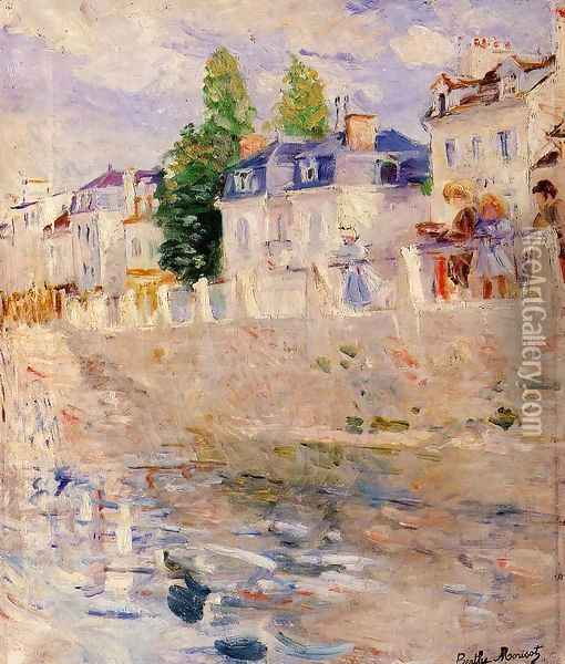 The Quay at Bougival 1883 Oil Painting - Berthe Morisot