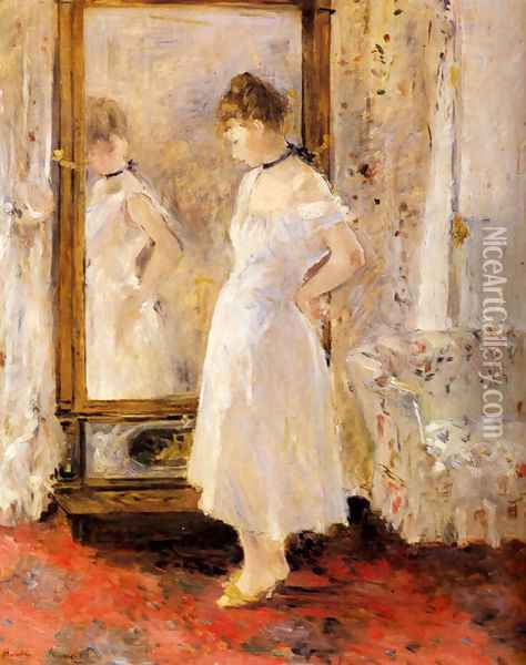 The Cheval Glass Oil Painting - Berthe Morisot