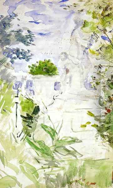 The Tuileries Oil Painting - Berthe Morisot