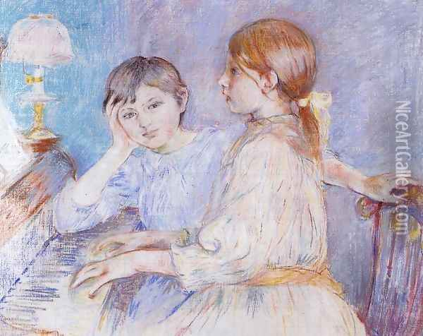 The Piano Oil Painting - Berthe Morisot