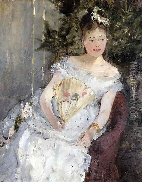 Portrait Of Marguerite Carre Aka Young Girl In A Ball Gown Oil Painting - Berthe Morisot