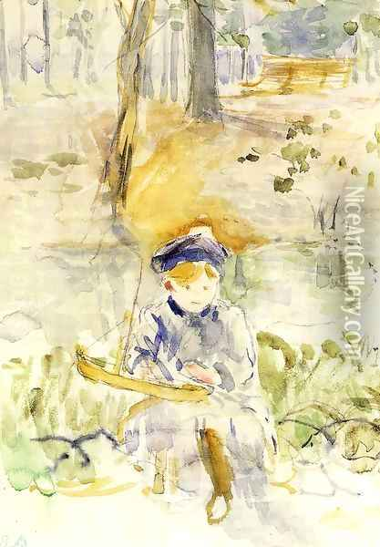 Julie And Her Boat Oil Painting - Berthe Morisot