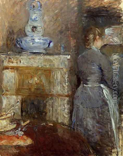 The Dining Room Of The Rouart Family Avenue DEylau Oil Painting - Berthe Morisot