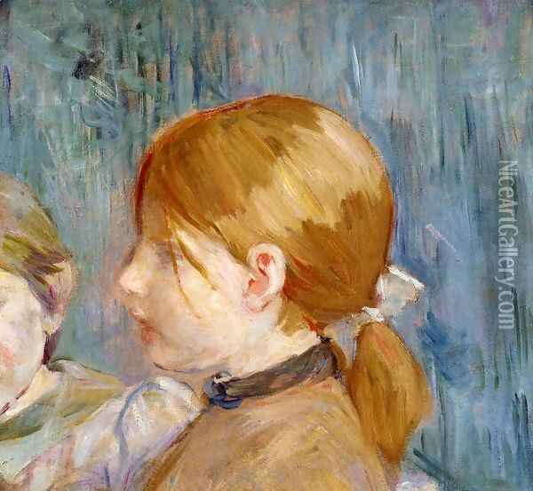 Jeannies Head Aka Tete De Jeannie Oil Painting - Berthe Morisot