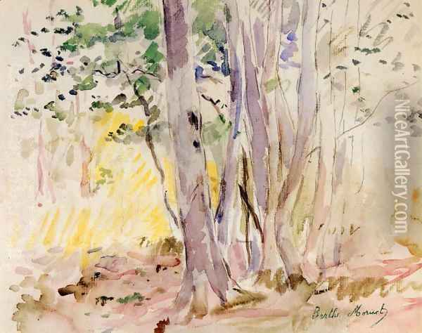 The Bois De Boulogne Oil Painting - Berthe Morisot