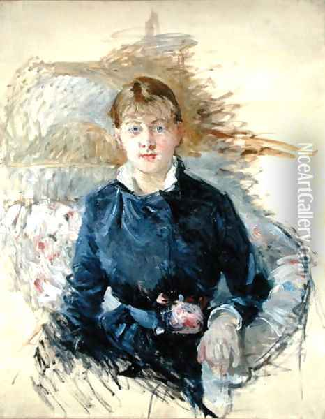 Portrait of Louise Riesener 1881 Oil Painting - Berthe Morisot