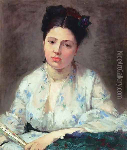 Young Woman Oil Painting - Berthe Morisot