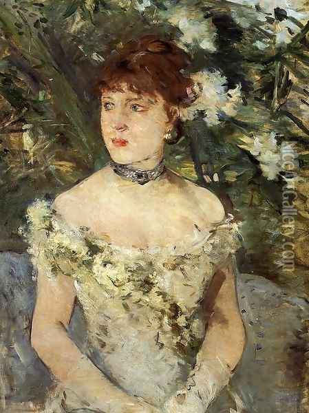 Young Woman Dressed for the Ball 1879 Oil Painting - Berthe Morisot