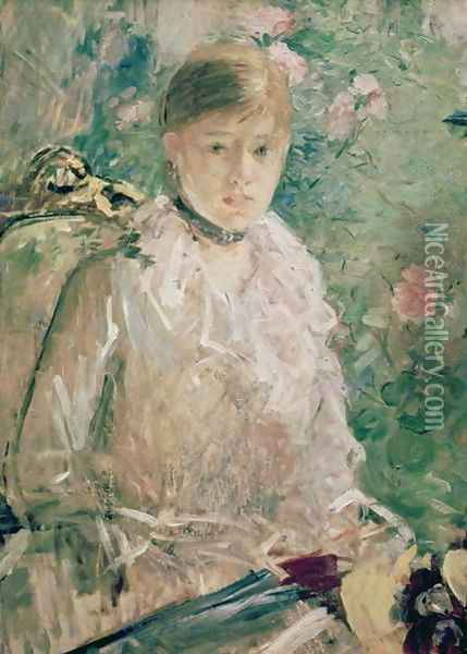 Portrait of a Young Lady Oil Painting - Berthe Morisot
