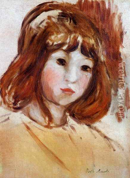 Portrait of a Young Girl Oil Painting - Berthe Morisot