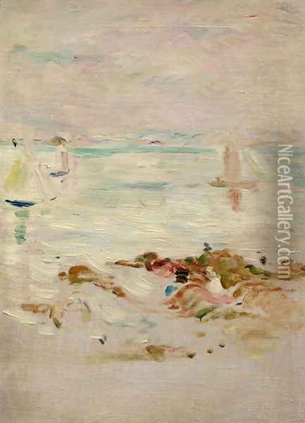 Sailboats 1894 Oil Painting - Berthe Morisot