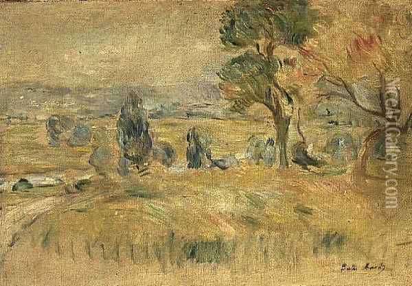 The Seine Valley at Mezy, 1891 Oil Painting - Berthe Morisot