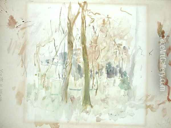 Red Trees 1885 Oil Painting - Berthe Morisot