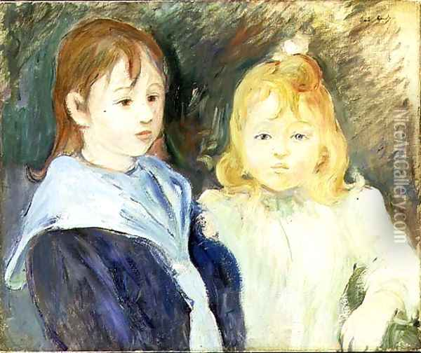 Portrait of Two Children 1893 Oil Painting - Berthe Morisot