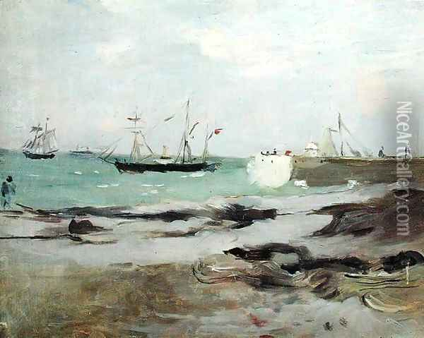 The Entrance to the Port of Boulogne 1880 Oil Painting - Berthe Morisot