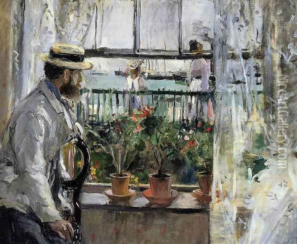 Eugene Manet (the Artist's Husband) on the Isle of Wight Oil Painting - Berthe Morisot