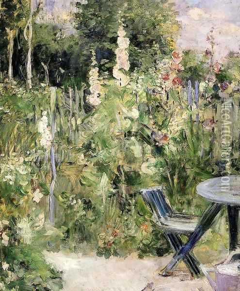 Rose Garden Oil Painting - Berthe Morisot