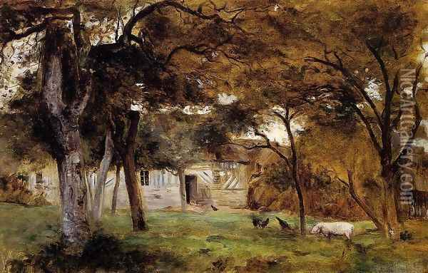 Farm in Normandy Oil Painting - Berthe Morisot