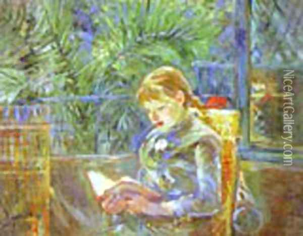 La Lecture (Reading) 1888 Oil Painting - Berthe Morisot