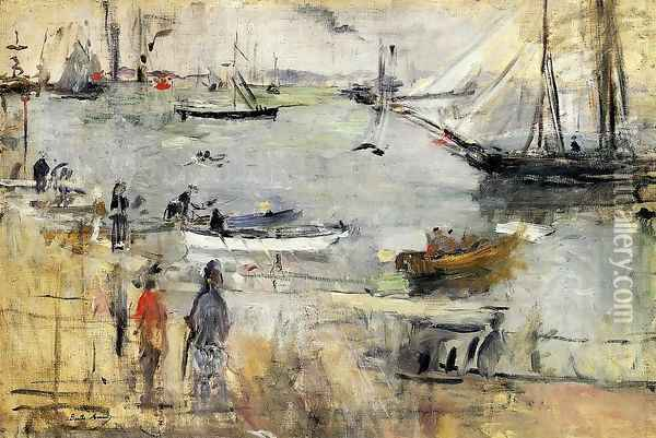 English Seascape2 1875 Oil Painting - Berthe Morisot