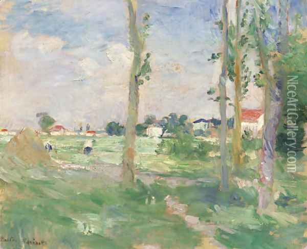 Paysage Oil Painting - Berthe Morisot