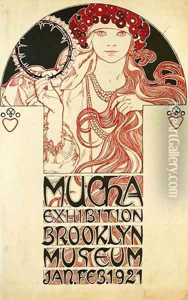 Poster for the Brooklyn Exhibition, 1921 Oil Painting - Alphonse Maria Mucha