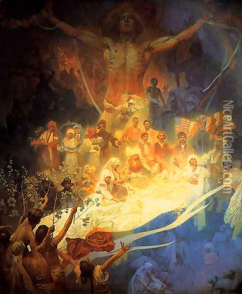 Apotheosis_of_the_Slavs_1926 Oil Painting - Alphonse Maria Mucha