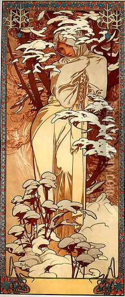 Winter Ii Oil Painting - Alphonse Maria Mucha