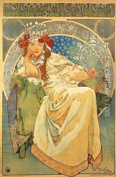 Princess Hyacinth, 1911 Oil Painting - Alphonse Maria Mucha