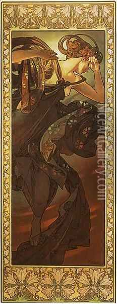 Evening Star. From The Moon and the Stars Series. 1902 Oil Painting - Alphonse Maria Mucha