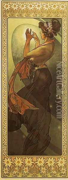 Pole Star. From The Moon and the Stars Series. 1902 Oil Painting - Alphonse Maria Mucha